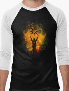 Praise the Sun Art Men's Baseball ¾ T-Shirt