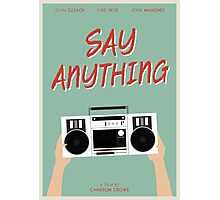 Say Anything film poster Photographic Print