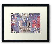 Paris in Violet Framed Print