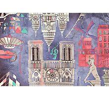 Paris in Violet Photographic Print