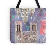 Paris in Violet Tote Bag