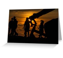 Evening cycle Greeting Card