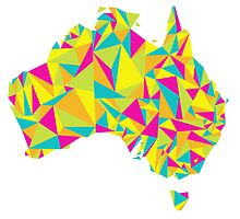 Abstract Australia Bright Earth by Travla Creative