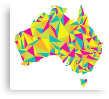 Abstract Australia Bright Earth Canvas Print