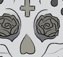 Sugar Skull (Smirking/colored) Sticker