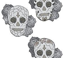 Sugar Skulls (colored) by elainejoven