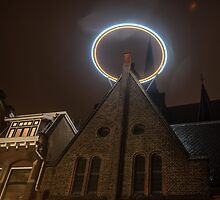 Night Lights of Utrecht. Halo at Willibrorduskerk. Netherlands by JennyRainbow