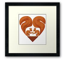 Squirrel Lovers Framed Print