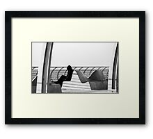 Curves and the solitary man Framed Print