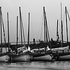 Moored at Morston by Dale Rockell