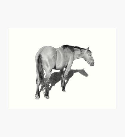 Horse in Pencil No. 2 Art Print
