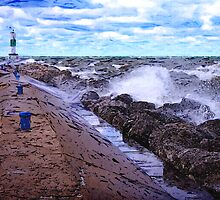 Lake Michigan Storm by perkinsdesigns