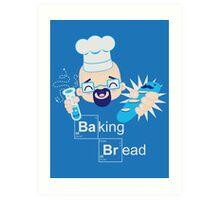 Baking Bread Kawaii Art Print