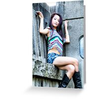 Michelle Angelic Pose [A1] (Portrait) Greeting Card