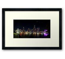 Brisbane City Lights Framed Print