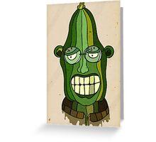Mr. Zucchini Greeting Card
