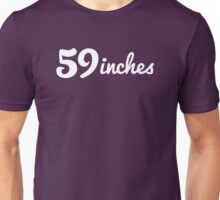 59inches - Solid White Logo Unisex T-Shirt