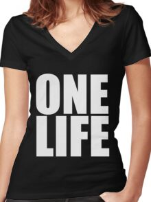 One Life Women's Fitted V-Neck T-Shirt