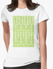 Ikat Lace in Lime Green on Grey T-Shirt