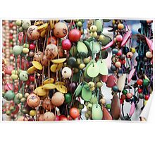 Hanging Tagua Beads Poster