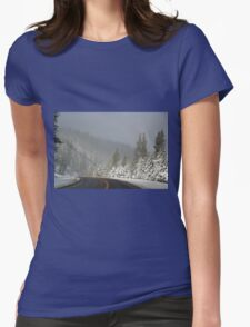 A Winter Drive Womens Fitted T-Shirt