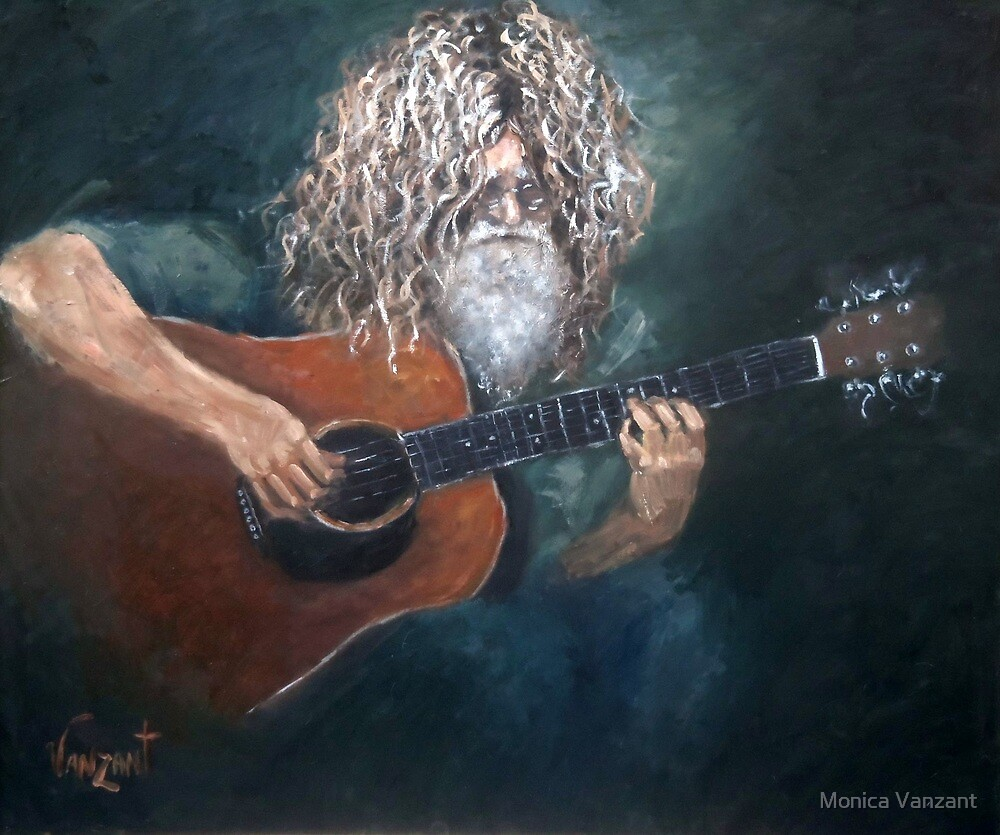 The Guitarist - David Falcone by Monica Vanzant