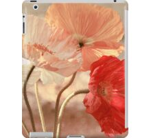 Poppies in Red, White & Peach iPad Case/Skin