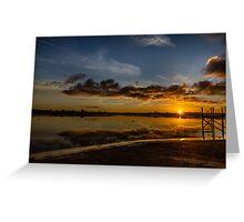 Sunset Skippool Creek Greeting Card