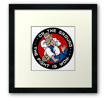 On the Ground, the Fight is Won Framed Print