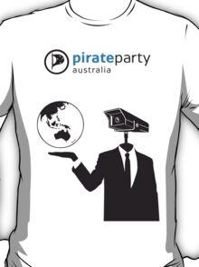 Pirate Party Australia : Global Surveillance Shirt T-Shirt