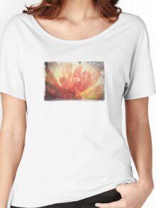 Antique Look Pretty Orange Flower Photograph Women's Relaxed Fit T-Shirt