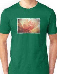 Antique Look Pretty Orange Flower Photograph Unisex T-Shirt