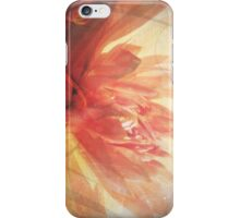 Antique Look Pretty Orange Flower Photograph iPhone Case/Skin