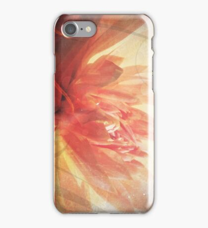Antique Look Pretty Orange Flower Photograph iPhone Case/Skin