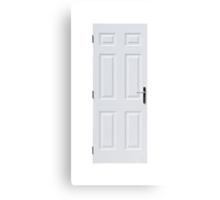 White door Canvas Print
