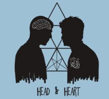 Kirk/Spock - Head/Heart //on light colours// Baby Tee