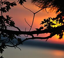 Sunset at Golden Lake by goddarb