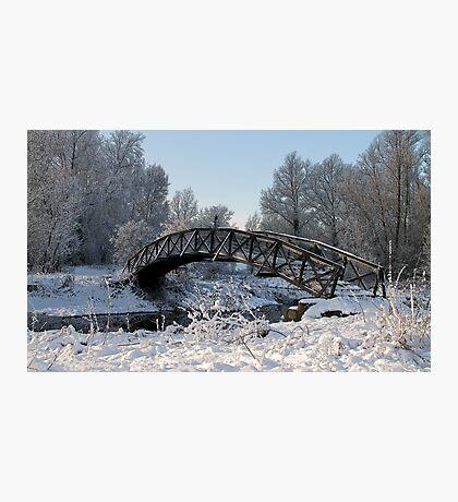Bridge Snow Scene Photographic Print