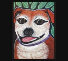 Gracie the Staffy T-shirt by amanda metalcat dodds