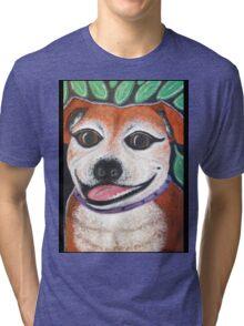 Gracie the Staffy T-shirt Tri-blend T-Shirt