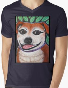Gracie the Staffy T-shirt Mens V-Neck T-Shirt