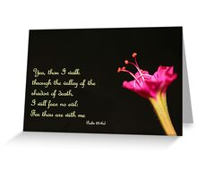 Walking Through the Valley of the Shadow of Death Greeting Card