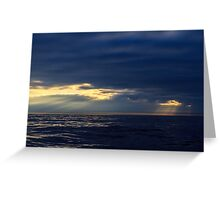 Sunset Bay of Biscay Greeting Card