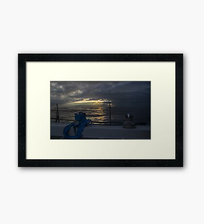Sunset from the cockpit Framed Print
