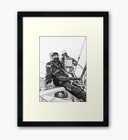 Sailing at it's best Framed Print