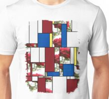 Red Rose with Light 1 Art Rectangles 4 Unisex T-Shirt