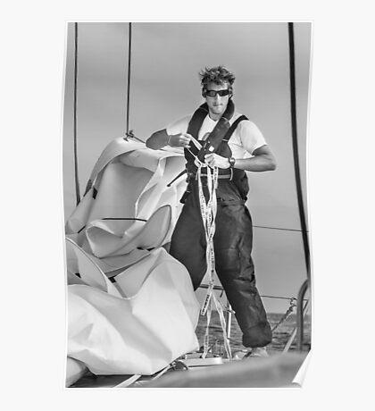 Hoisting sail Poster