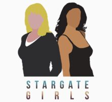 "Stargate - Sam & Vala ""Stargate Girls"" T-shirt.  by Sophie  Orchard"