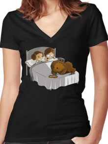 Not now Chewie Women's Fitted V-Neck T-Shirt