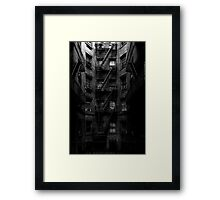 Escape Stairs Framed Print